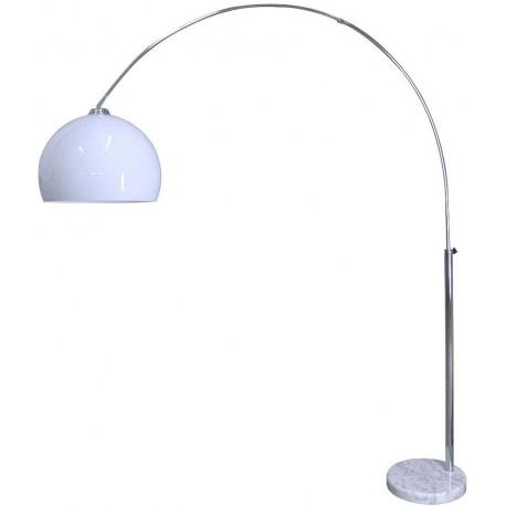 Nowoczesna lampa podłogowa CHROM WITH WHITE