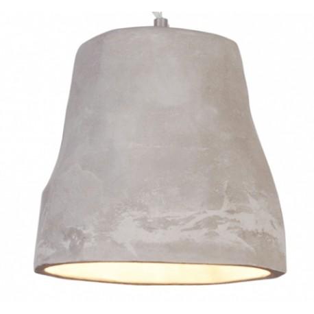 Cementowa lampa wisząca - szara