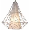 Geometryczna lampa wisząca - metal white