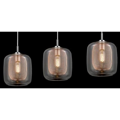 Industrialna lampa wisząca na trzy źródła światła