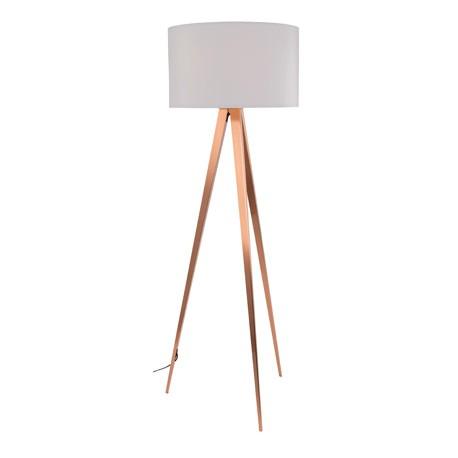 Biała lampa Tripod Copper