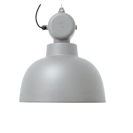 Jasnoszara lampa wisząca FACTORY M mat