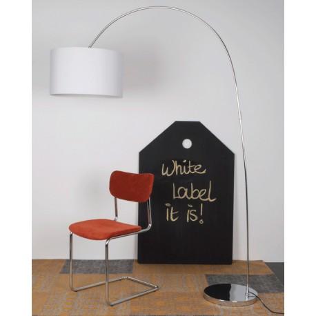 Nowoczesna lampa stojąca WIGGLY - biała