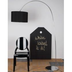 Stylowa lampa podłogowa WIGGLY - czarna