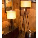 ZESTAW Lampa stołowa i podłogowa WOODLAND