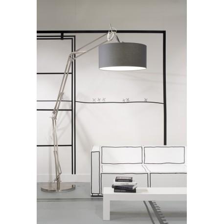 Wielka lampa podłogowa Milano – XL - nikiel