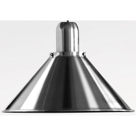 Srebrna lampa wisząca Reflex Stożek