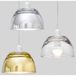 Szklana lampa wisząca Avocado (srebrna, złota lub transparentna)