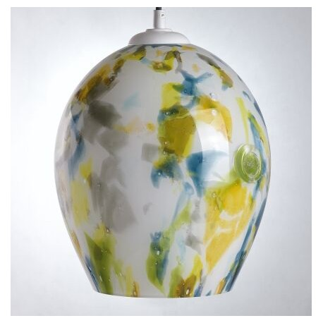 Stylowa lampa szklana, której kolor zachwyca