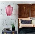 Unikatowa lampa ze szkła w kolorze brudnego różu