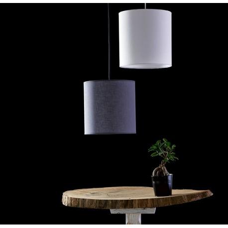 Abażurowa lampa w kolorze białym lub szarym