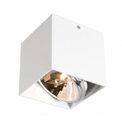 Kwadratowy Plafon pojedynczy SPOT BOX – biały