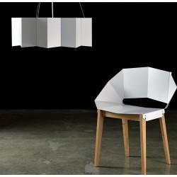 Nowoczesna lampa o geometrycznym kształcie - różne kolory
