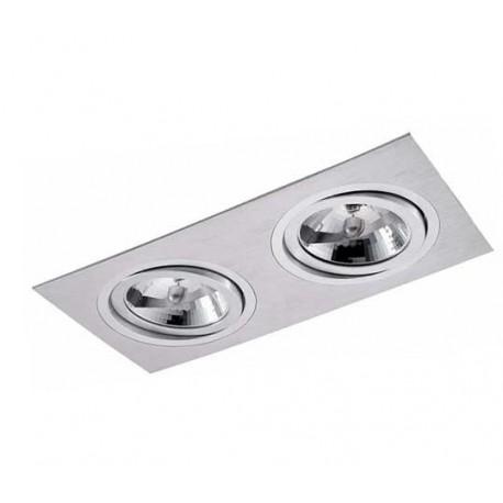 Oczko halogenowe podwójne z aluminium szczotkowanego – PP 610/2