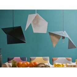 Nowoczesna lampa metalowa o geometrycznej formie (trzy wersje)