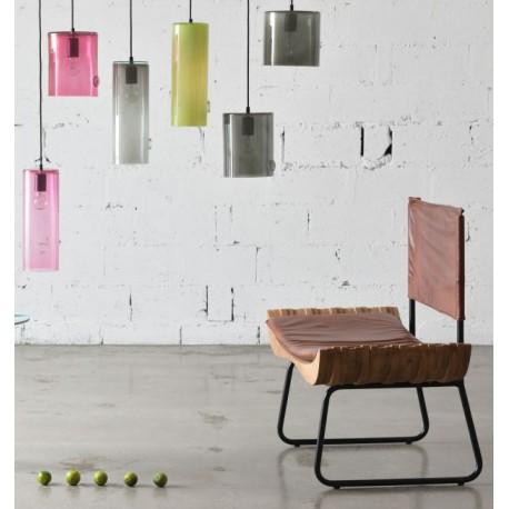 Szklana lampa wisząca TUBA GLASS