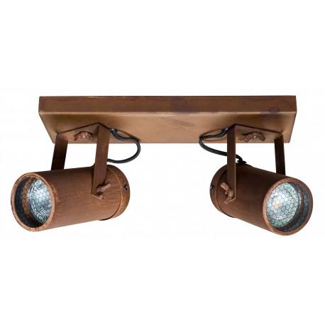 Podwójny, rdzawy reflektor SCOPE-2 marki Dutchbone