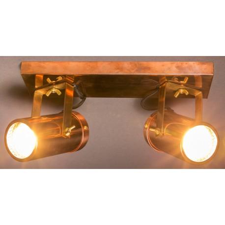 Miedziany reflektor SCOPE-2 (podwójny) - Dutchbone