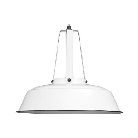 Biała lampa przemysłowa - HK Living