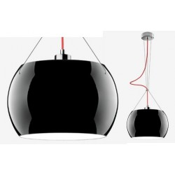 Elegancka lampa wisząca Sotto Luce – Momo – czarny połysk