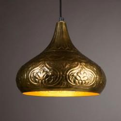 Mosieżna lampa wisząca ONI - Dutchbone