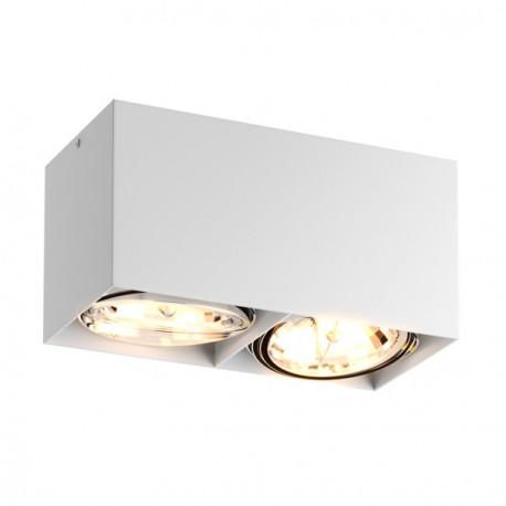 Podwójny plafon BOX II – biały