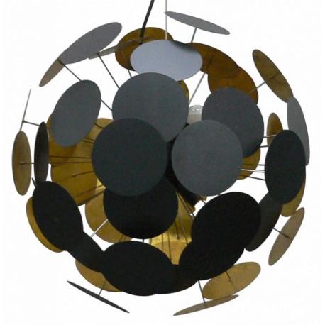 Czarno-złota lampa wisząca DOTS