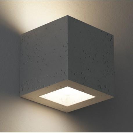 Kinkiet betonowy sześcian (góra/dół) - KORYTKO 12 CLEONI