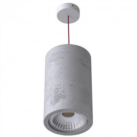Betonowa lampa wisząca MONAX, duża - CLEONI