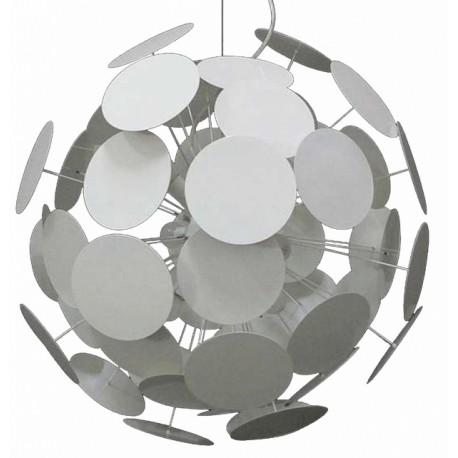 Biała lampa wisząca DOTS