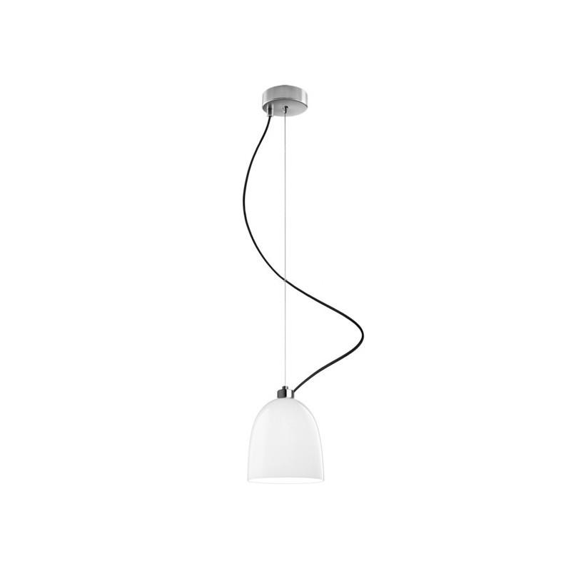 Nowoczesna lampa wisząca AWA biała połysk