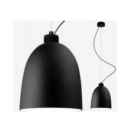 Czarna lampa wisząca AWA - mat