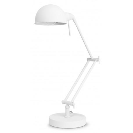Biała lampa biurkowa GLASGOW It's About RoMi