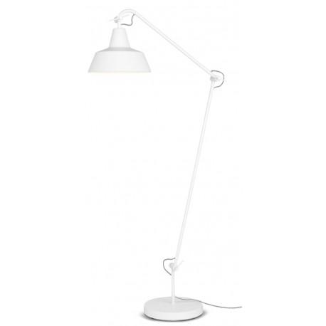 Biała lampa podłogowa z regulacją strumienia światła - CHICAGO