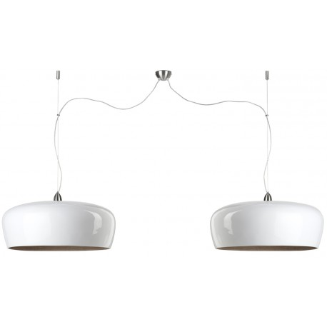 Biała lampa wisząca Hanoi (2 abażury) - It's About RoMi