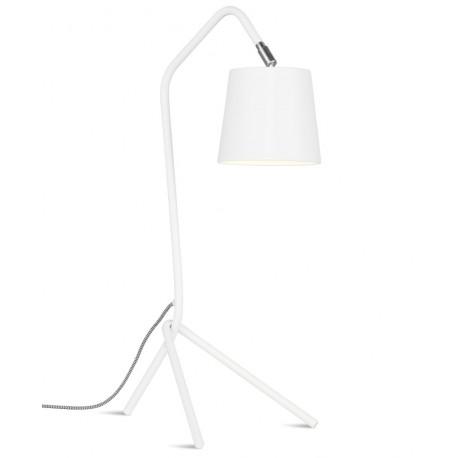 Biała lampa stołowa Barcelona
