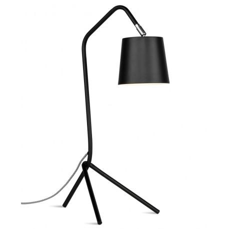Czarna lampa stołowa Barcelona