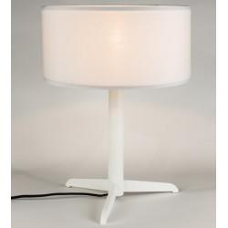 Biała lampa z abażurem SHELBY - ZUIVER