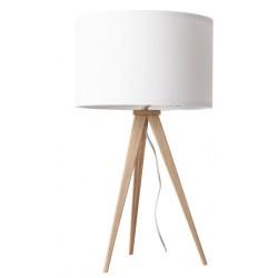 Drewniana lampa stołowa TRIPOD WOOD – WHITE