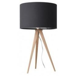 Drewniana lampa stołowa TRIPOD WOOD – BLACK