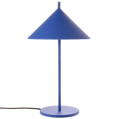 Kobaltowa lampa stołowa TRIANGLE - HK Living