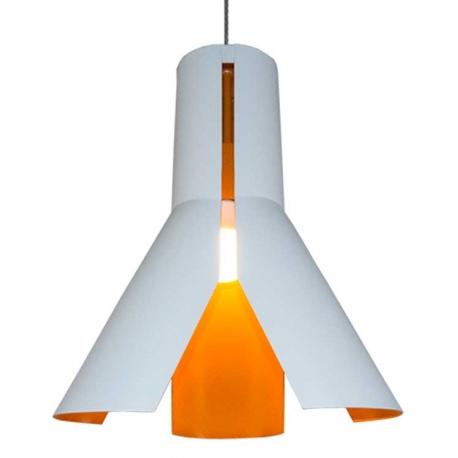 Wisząca lampa biało-pomarańczowa Origami