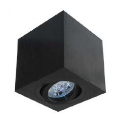Geometryczny plafon w kolorze czarnym