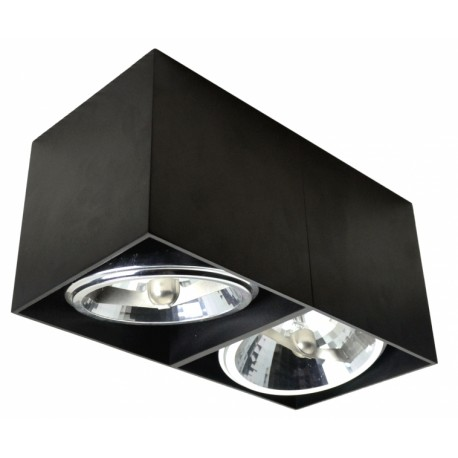 Podwójny plafon BOX II – czarny