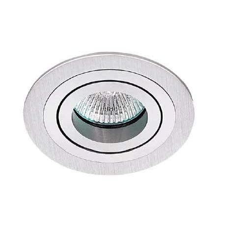 Okrągły halogen z aluminium szczotkowanego