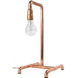Miedziana lampa biurkowa z rur – LGH0030