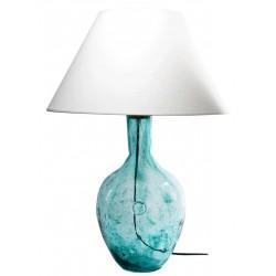 Szklana lampa stołowa w kolorze turkusowym – GIE EL