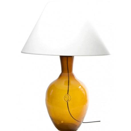 Szklana lampa stołowa w kolorze miodowym – GIE EL