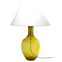 Szklana lampa stołowa w kolorze oliwkowym – GIE EL