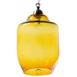 Szklana lampa wisząca duża GIE EL - miodowa